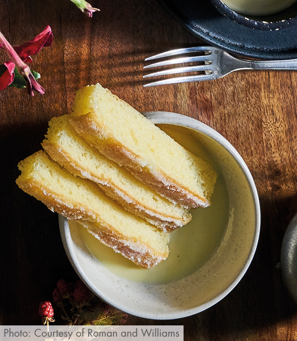 The bowl of Crème Anglaise topped with fluffy Brioche is an absolutely dreamy, sweet and French way to start your day.