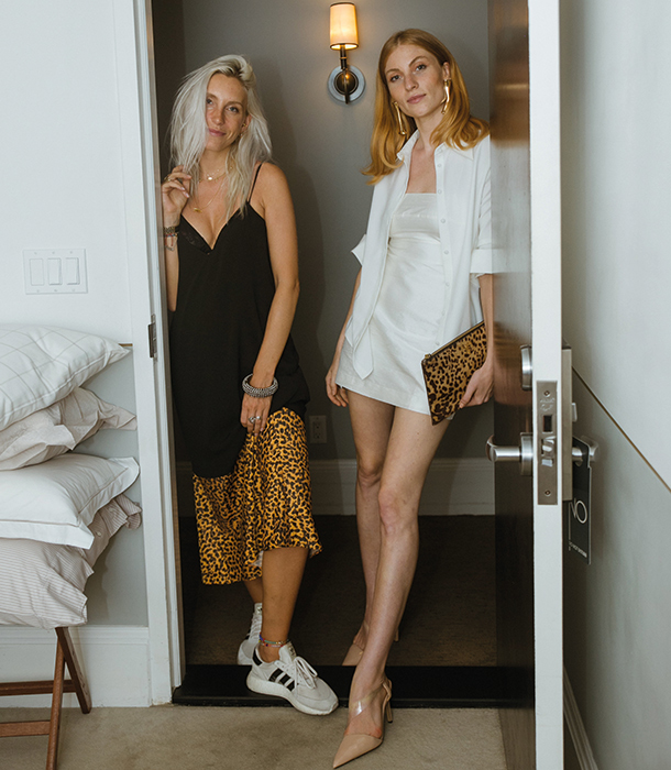 Refinery29 Creative Director Cloudy Zakrocki with Lisa Banholzer in one of the rooms.