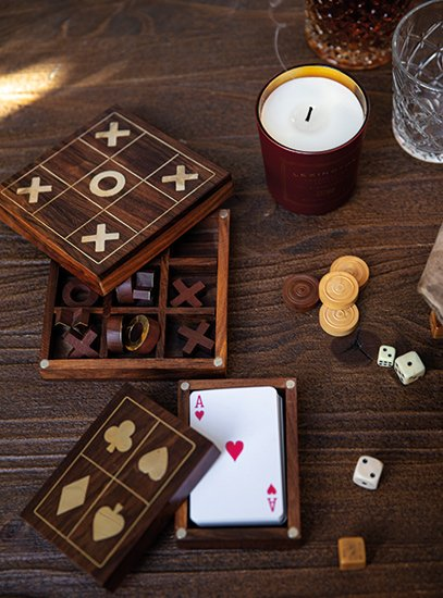 Tic-Tac-Toe & Card Deck Box