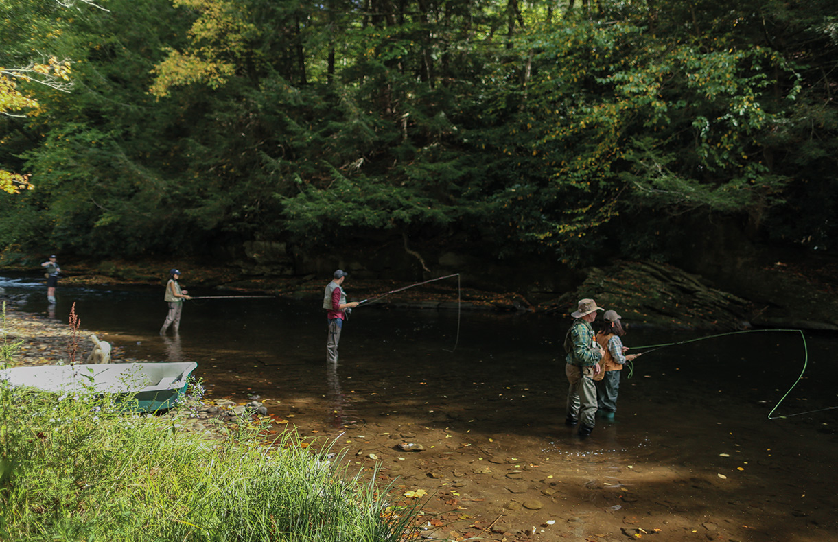 "One of the ways our friends relaxed during our NYFW Decompress event was through fly fishing. Check out our beginner's guide<a href=""https://www.lexingtoncompany.com/stories/the-journal/the-beginners-guide-to-fly-fishing-the-equipment"" title="" part 1"" target=""_blank"" rel=""nofollow""> part 1</a> and <a href=""https://www.lexingtoncompany.com/the-journal-the-beginners-guide-to-fly-fishing-spotting-a-fish"" title=""part 2"" target=""_blank"" rel=""nofollow"">part 2</a> if you're interested in trying out the sport."