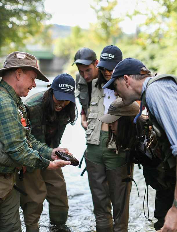 All of our guests were captivated by the art of fly fishing and couldn't stop taking in our angling instructor Bruce.