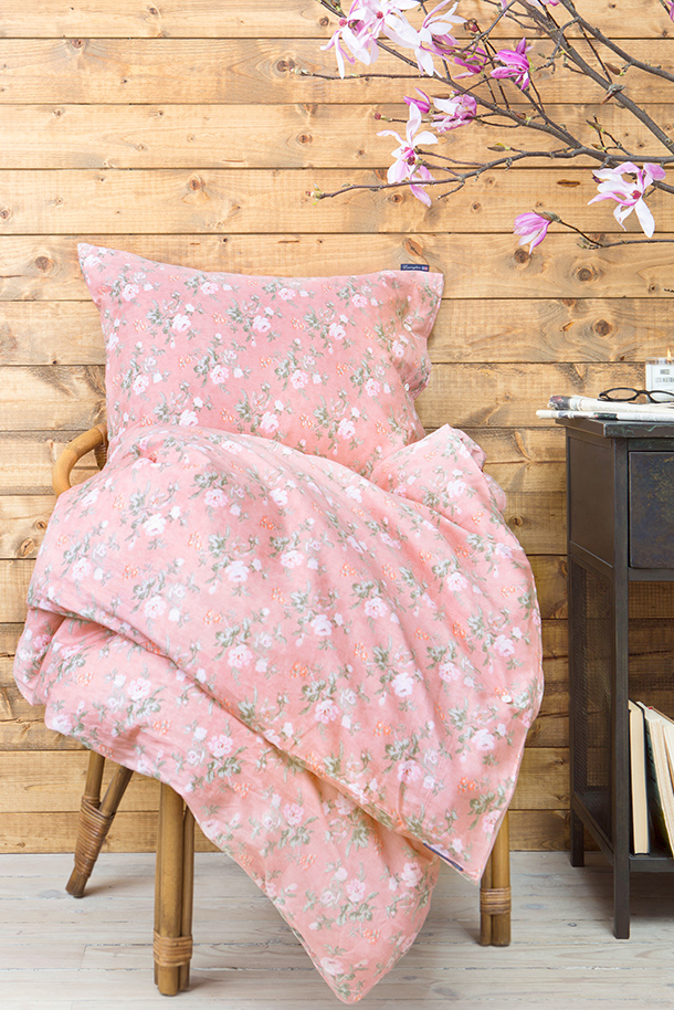 The City Floral bedding, with its vintage floral print and soft sateen, feels like a bed of soft rose petals.