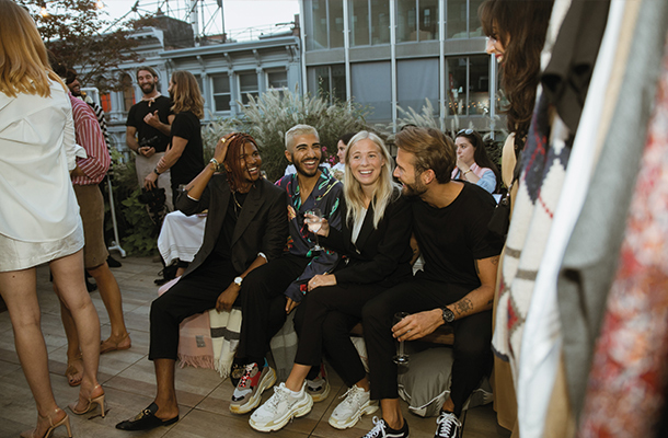 Stylist Julian Hernandez, photographer and influencer Rami Hanna, influencers Victoria Törnegren and Erik Forsgren