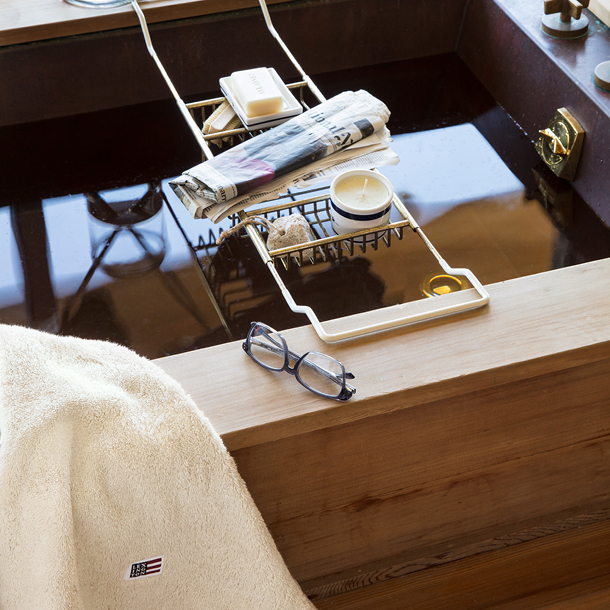 Wrap yourself in a thick terry towel after a long hot bath.