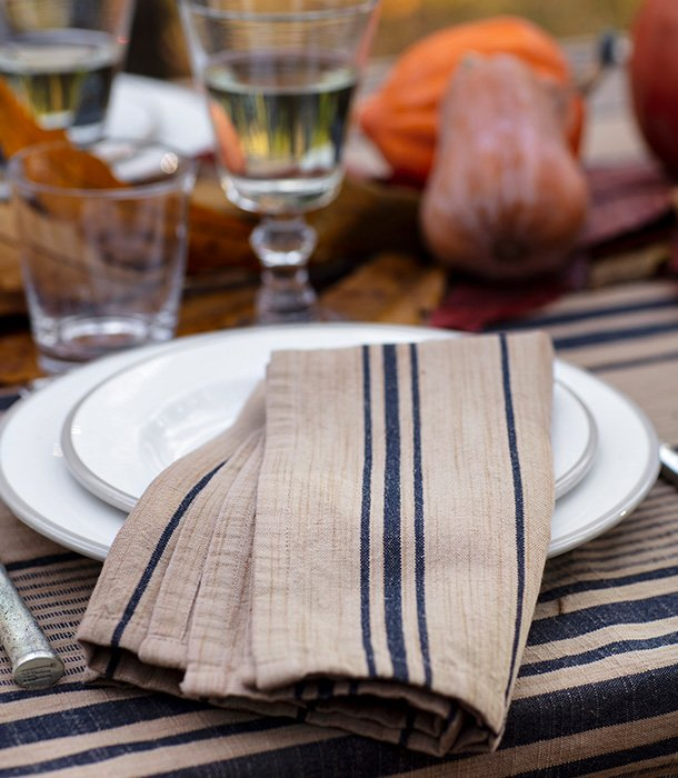Tackle your last summer soiree with grace with an assortment of rugged chic napkins that work indoor as well as outdoor.