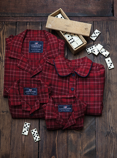 Holiday Checked Flannel Pajamas