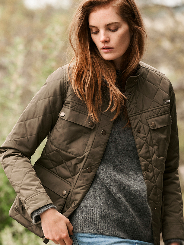 Stay on top of the weather with Hedda Quilted Jacket.