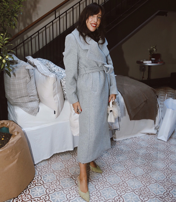 Sania Claus Demina loving the Mila Long Coat