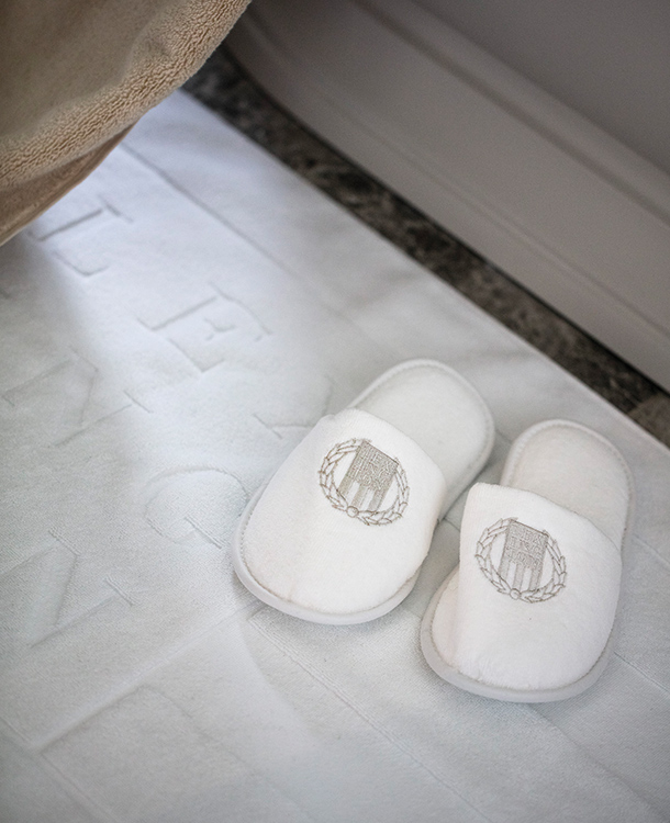 Nothing says comfort more than slippers. After a relaxing bath, step into these slippers that will make each toe feel like it's being hugged all the while drying your precious feet in soft velour. They're also great for lounging around as they protect your soles from the cold floors.