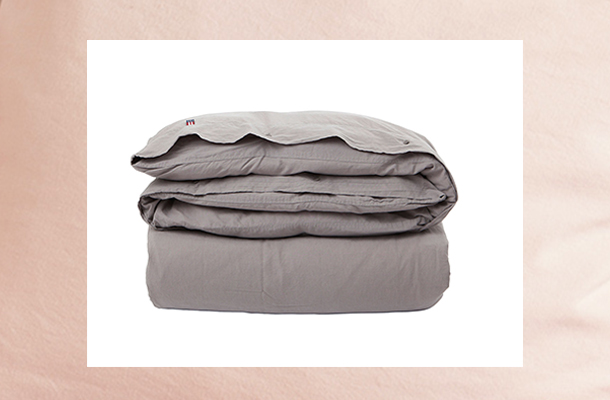 Washed Cotton Linen Gray Duvet