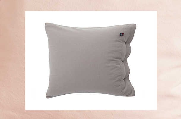 Washed Cotton Linen Gray Pillowcase