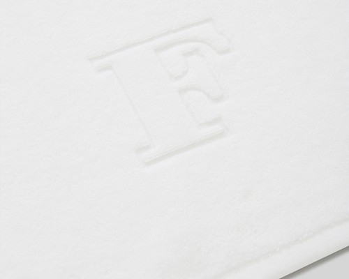 Icons Monogram Towel Letter F