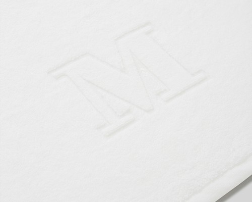 Icons Monogram Towel Letter M