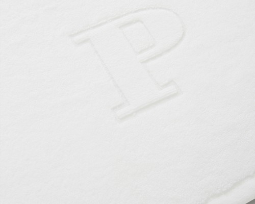 Icons Monogram Towel Letter P