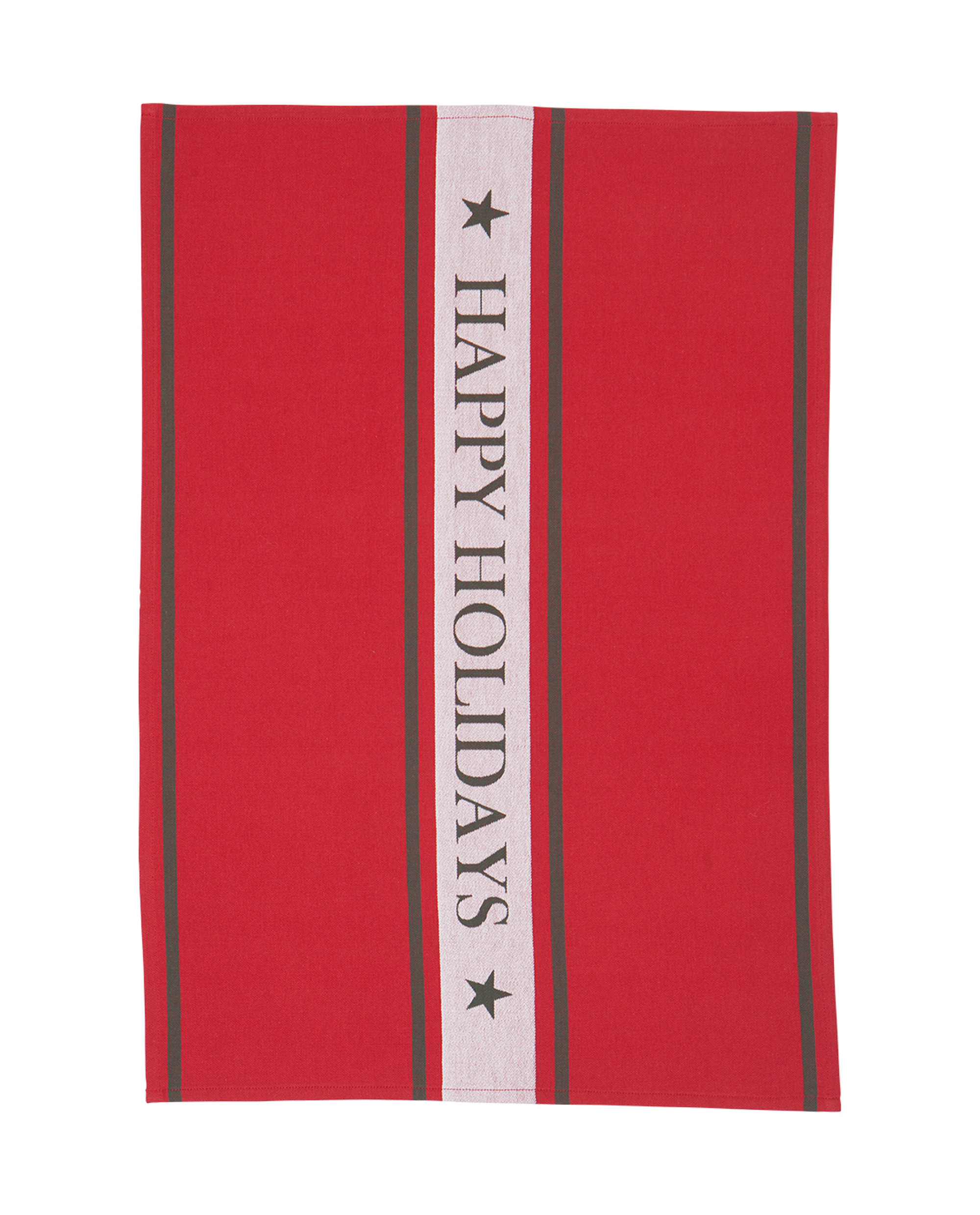 Happy Holiday Kitchen Towel, Red