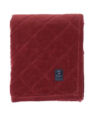 Quilt Velvet Bedspread, Red