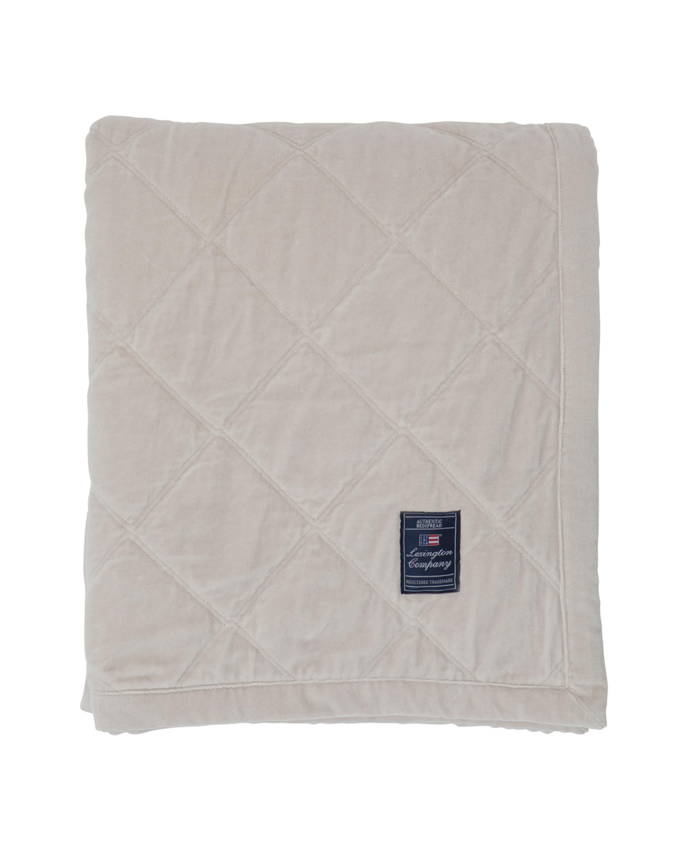 Quilt Velvet Bedspread, Creme