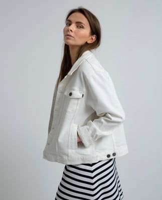 Marcie White Denim Jacket