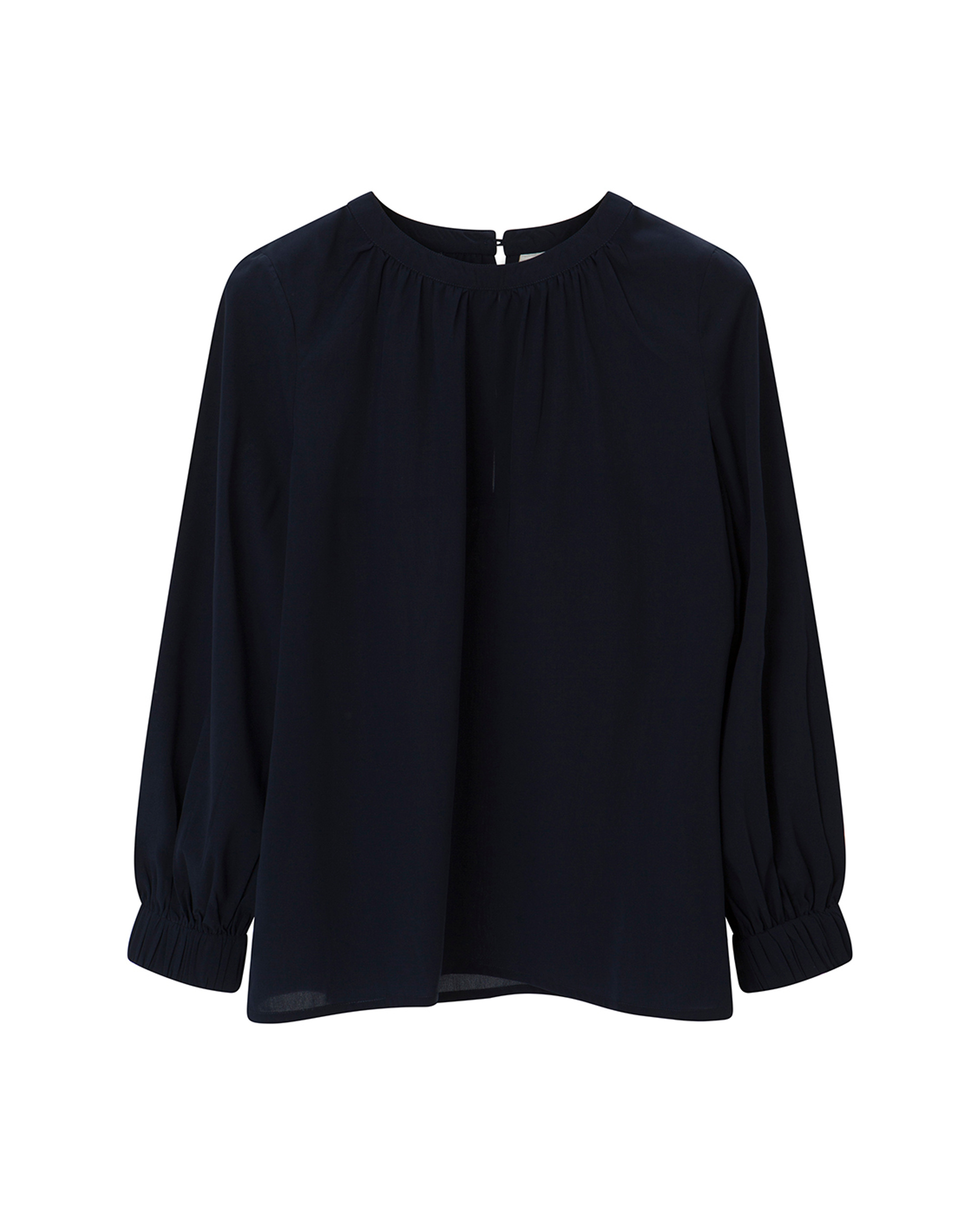 Mercer Blouse, Navy Blue