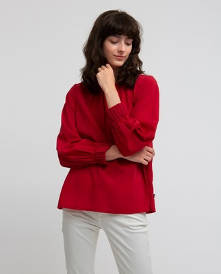 Mercer Blouse, Vintage Red