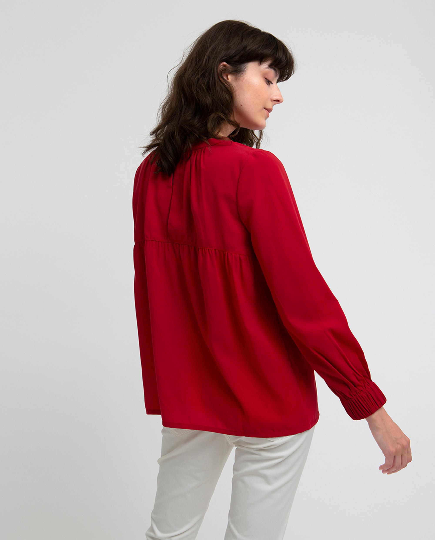 Mercer Blouse, Vintage Red