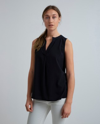 Nadeen Top, Navy Blue