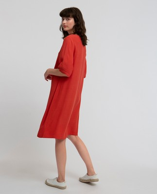 Thea Dress, Vintage Red