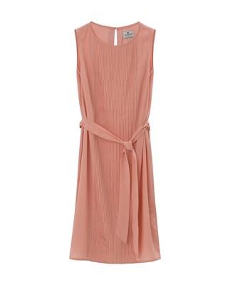Katie Plisse Dress, Mellow Rose