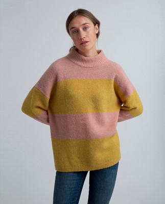 Talula Sweater, Pink/Yellow