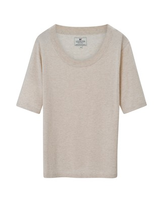 Amber Cotton Bamboo Tee, Snow White