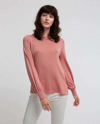 Sadie Cotton Bamboo Sweater, Rosette Pink