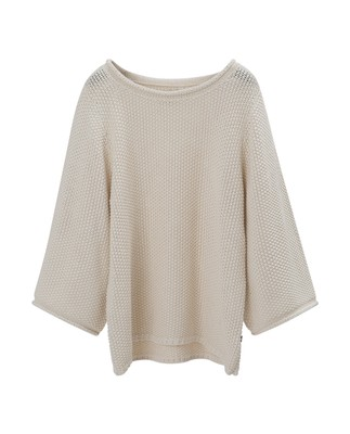 Kayla Cotton Linen Sweater,  Birch White