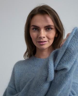 Willa Mohair Sweater, Light Blue