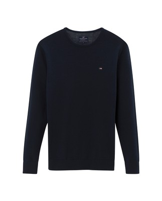 Bradley Crewneck Sweater, Navy Blue