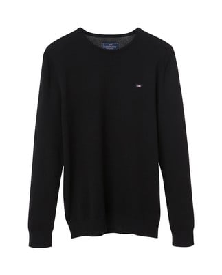 Bradley Crewneck Sweater, Caviar Black