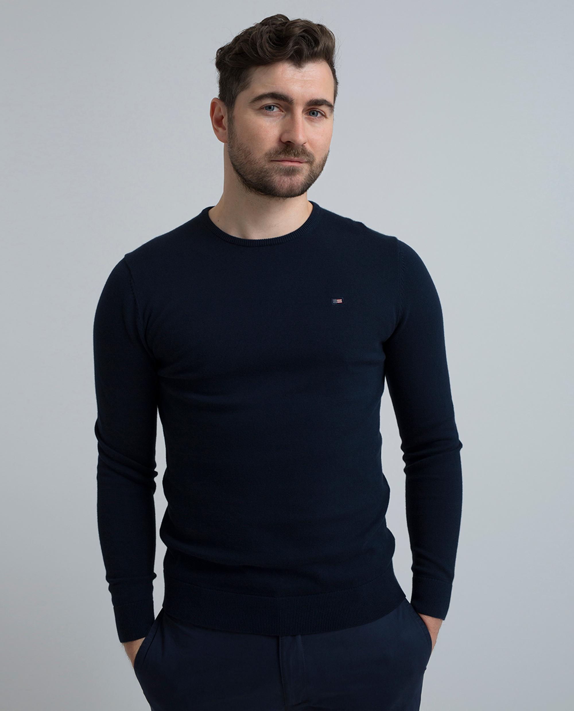 Bradley Crewneck Sweater, Navy Blue