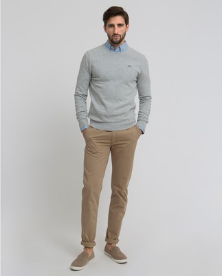 Bradley Crewneck Sweater, Light Gray