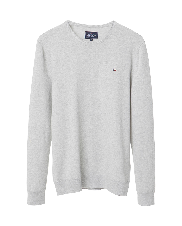 Bradley Crewneck Sweater, Light Gray