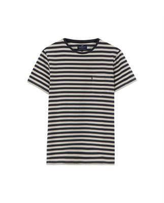 Travis Tee, Blue/White