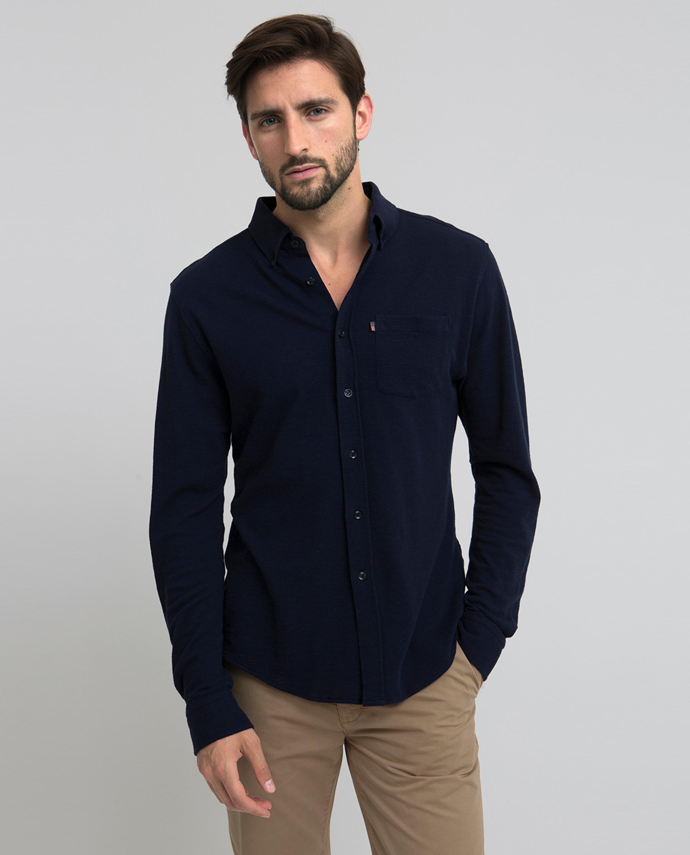 Irvin Pique Shirt, Deep Marine Blue