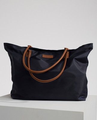 Mayflower Nylon Tote Bag, Navy Blue
