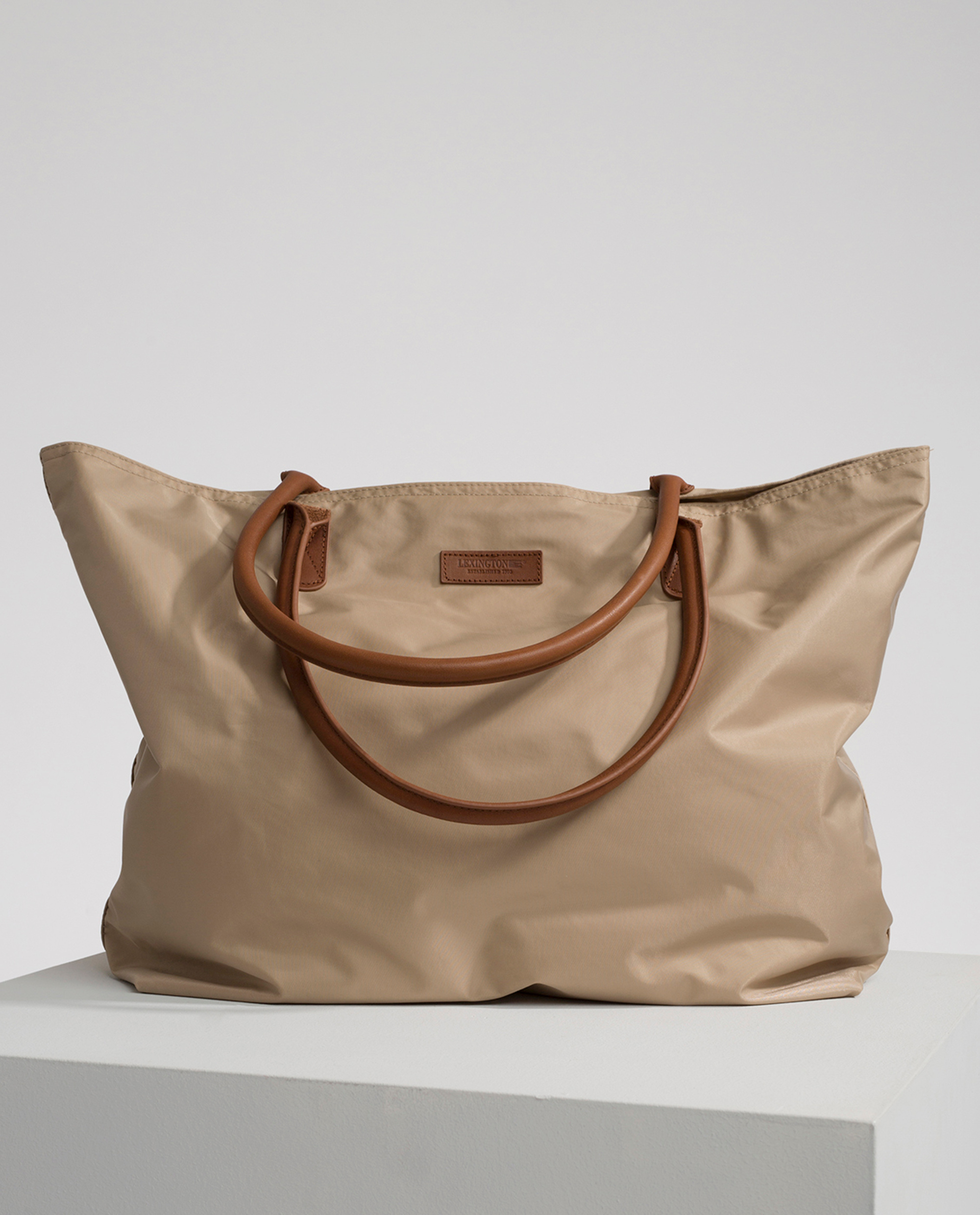 Mayflower Nylon Tote Bag, Warm Sand