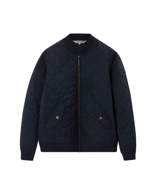 Greta Quilted Jacket, Navy Blue