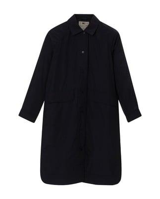 Rowan Car Coat, Deep Marine Blue