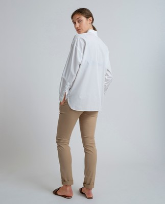 Edith Poplin Shirt, Bright White