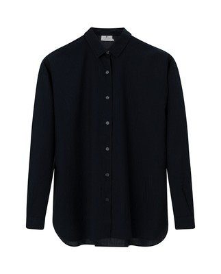 Edith Lt Oxford Shirt, Black/Blue