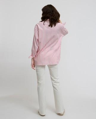 Edith Lt Oxford Shirt, Pink/White