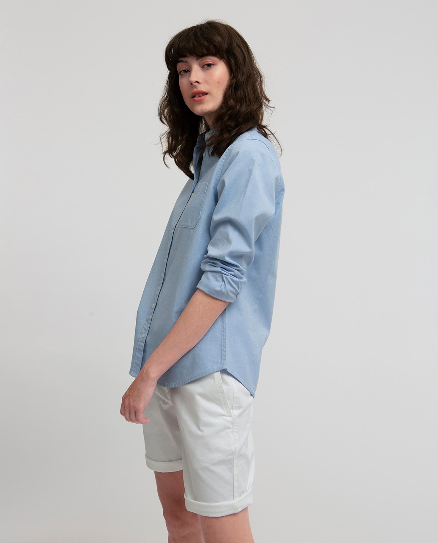 Sarah Oxford Shirt, Light Blue