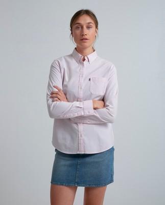Sarah Oxford Shirt, Pink/White