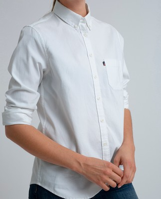 Sarah Oxford Shirt, Bright White